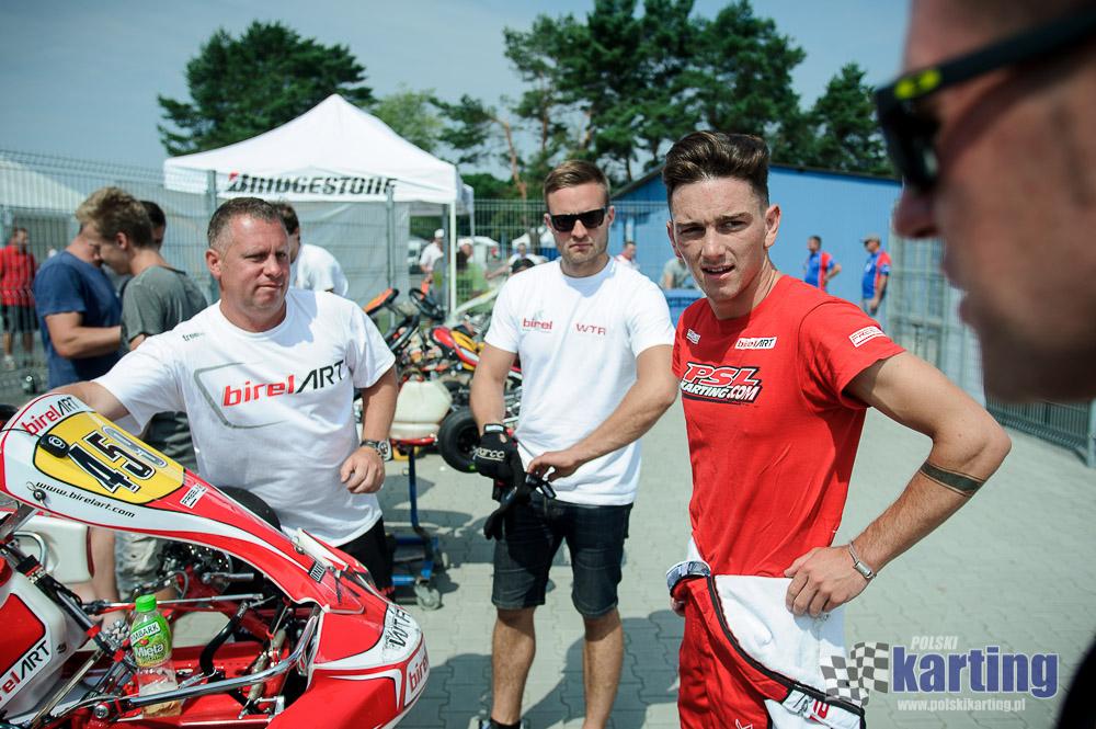Jordon Lennox-Lamb w towarzystwie Wiktora Turkiewicza podczas mistrzostw Polski w Poznaniu.