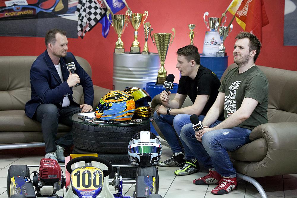 Mateusz Bartsch i Remigiusz Drzazga w Karting Cafe.