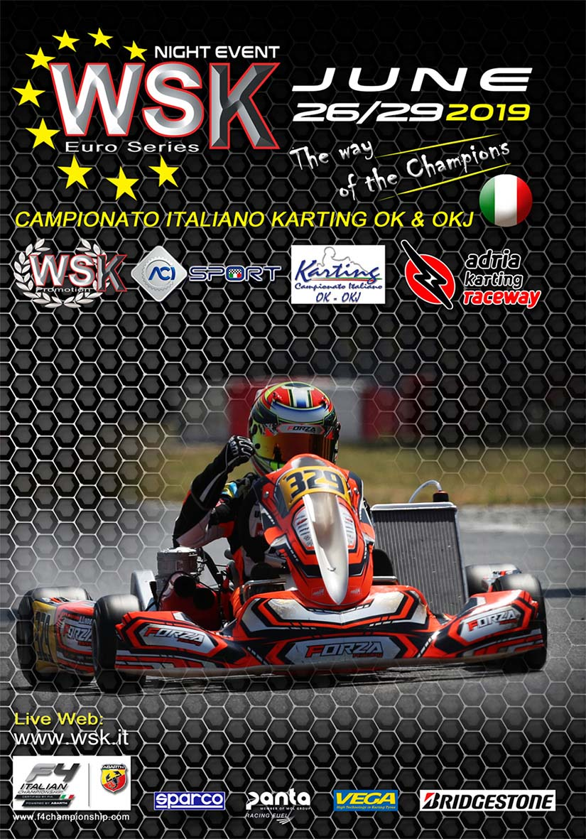 Overnight final event in Adria for WSK Euro Series  - Polski